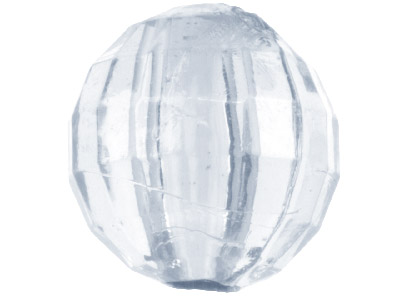 Clear Round 8mm Disco Lucite Beads Pack of 100