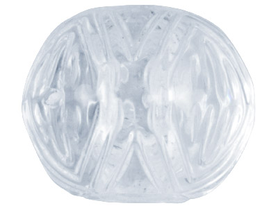 Clear Patterned Rondelle 14mm      Lucite Beads Pack Of 20