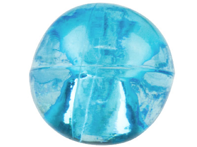 Aqua Round Pendant 10mm Lucite     Beads Pack of 40