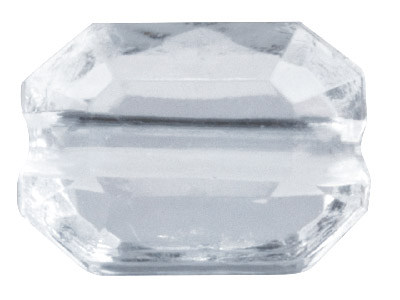 Clear Faceted Cut Corners Oblong   10x7mm Lucite Beads Pack of 100