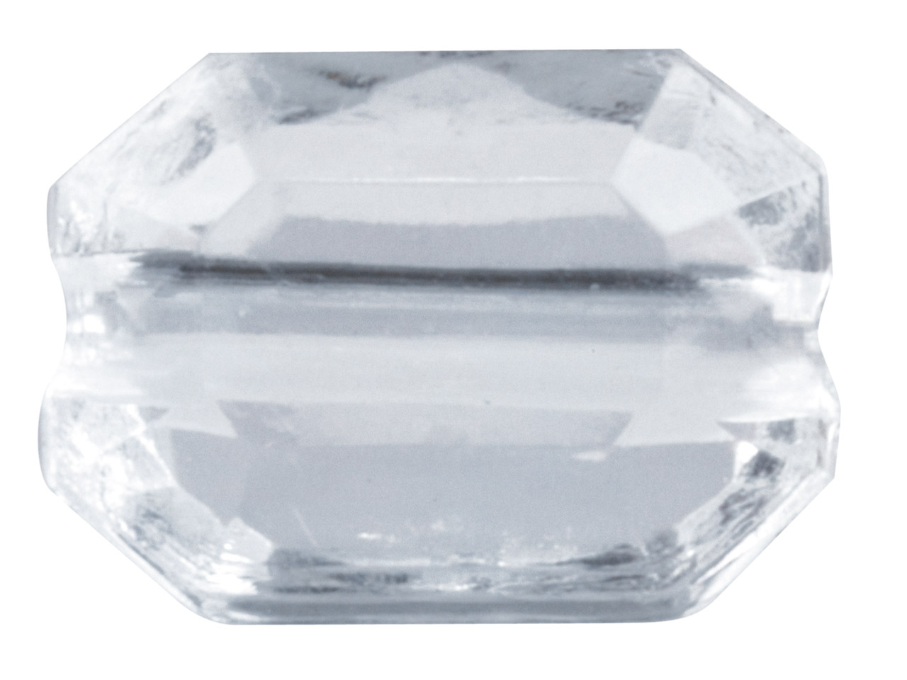 Clear Faceted Cut Corners Oblong   10x7mm Lucite Beads Pack of 100,