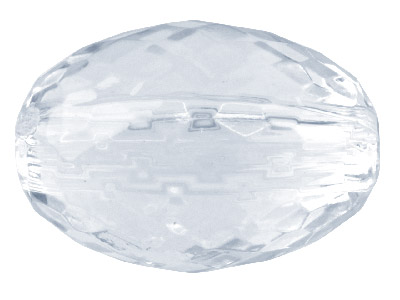 Faceted Oval Clear 12x17mm Lucite  Beads Pack of 20