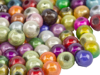 Mixed Colours Miracle Beads Round  4mm Plastic Pack of 200