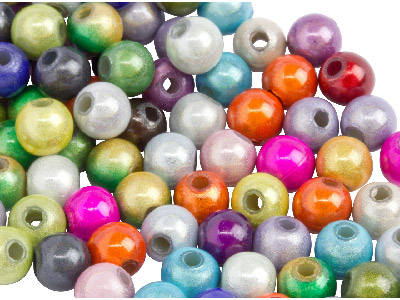 Mixed Colours Miracle Beads Round 5mm Plastic Pack Of 100
