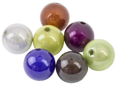 Mixed Colours Miracle Beads Round  14mm Plastic Pack Of 20