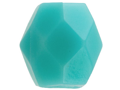 Turquoise Faceted Oval 6mm Plastic Beads Pack Of 100