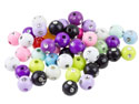 Silver-Dots-Mixed-Colour-Round-6mm-Pl...