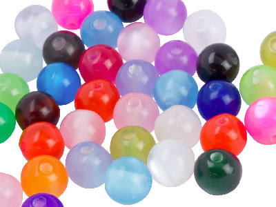 Mixed Colours Round 6mm Resin Beads Pk 150