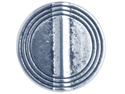 Silver Tone Disc Lined 16mm Pack Of 10