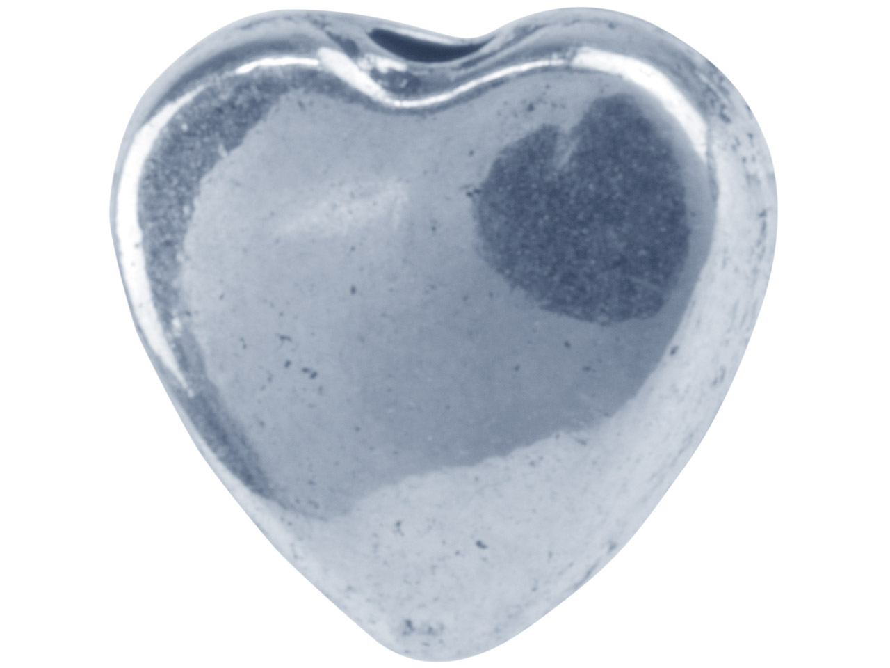 Silver Tone Flat Heart 8mm         Pack of 20