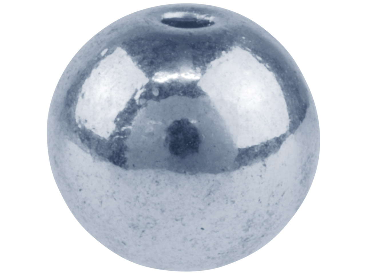 Silver Tone Round Ball 8.5mm       Pack of 10