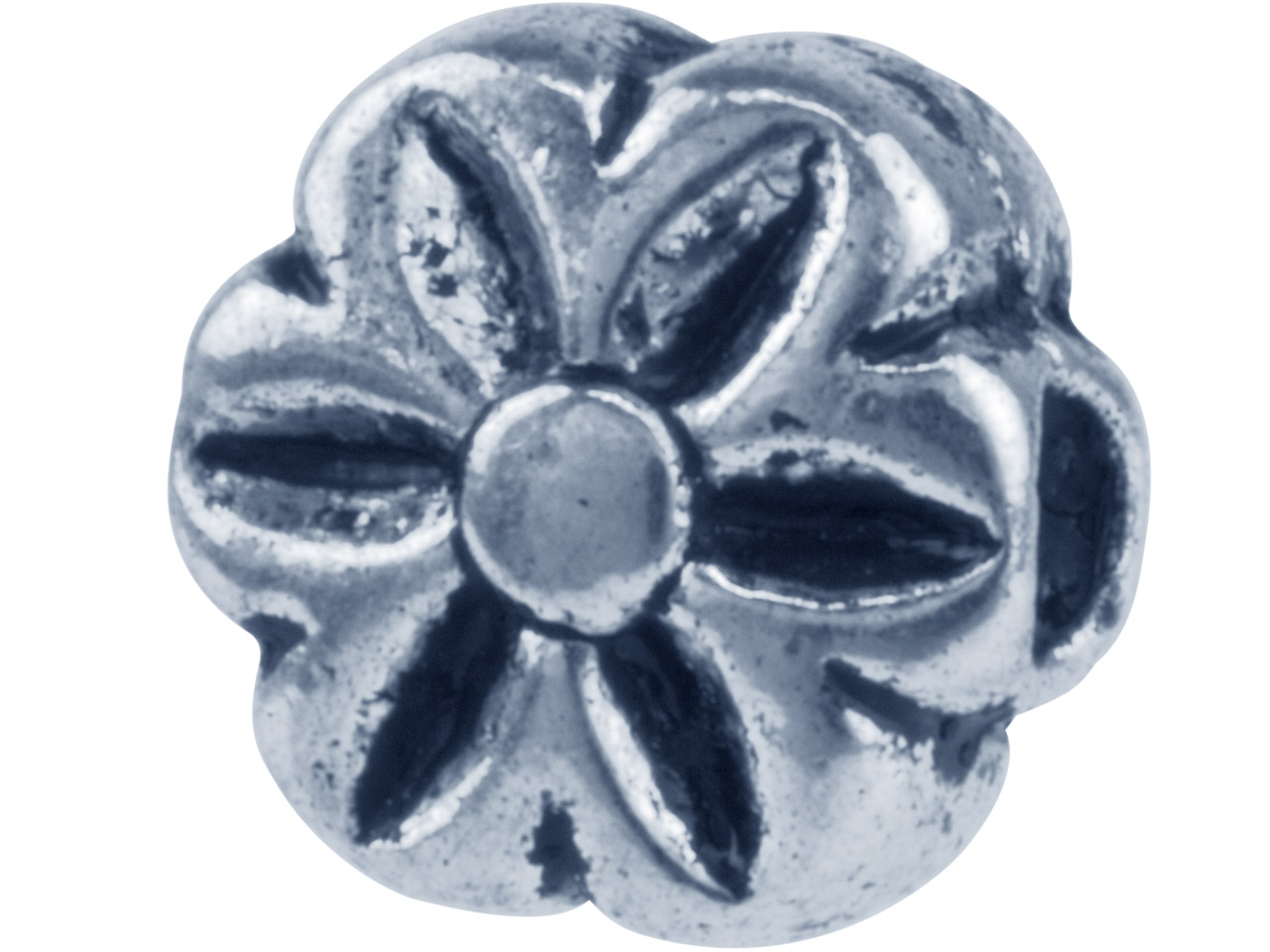 Silver Tone Decorative Flower 8mm  Pack of 10