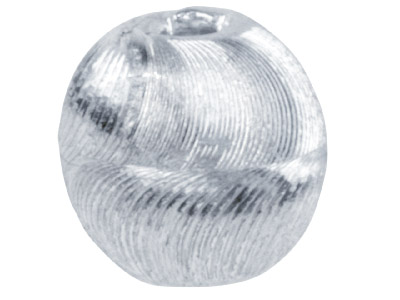 Silver-Plated-Diamond-Cut-Round-8mm-B...
