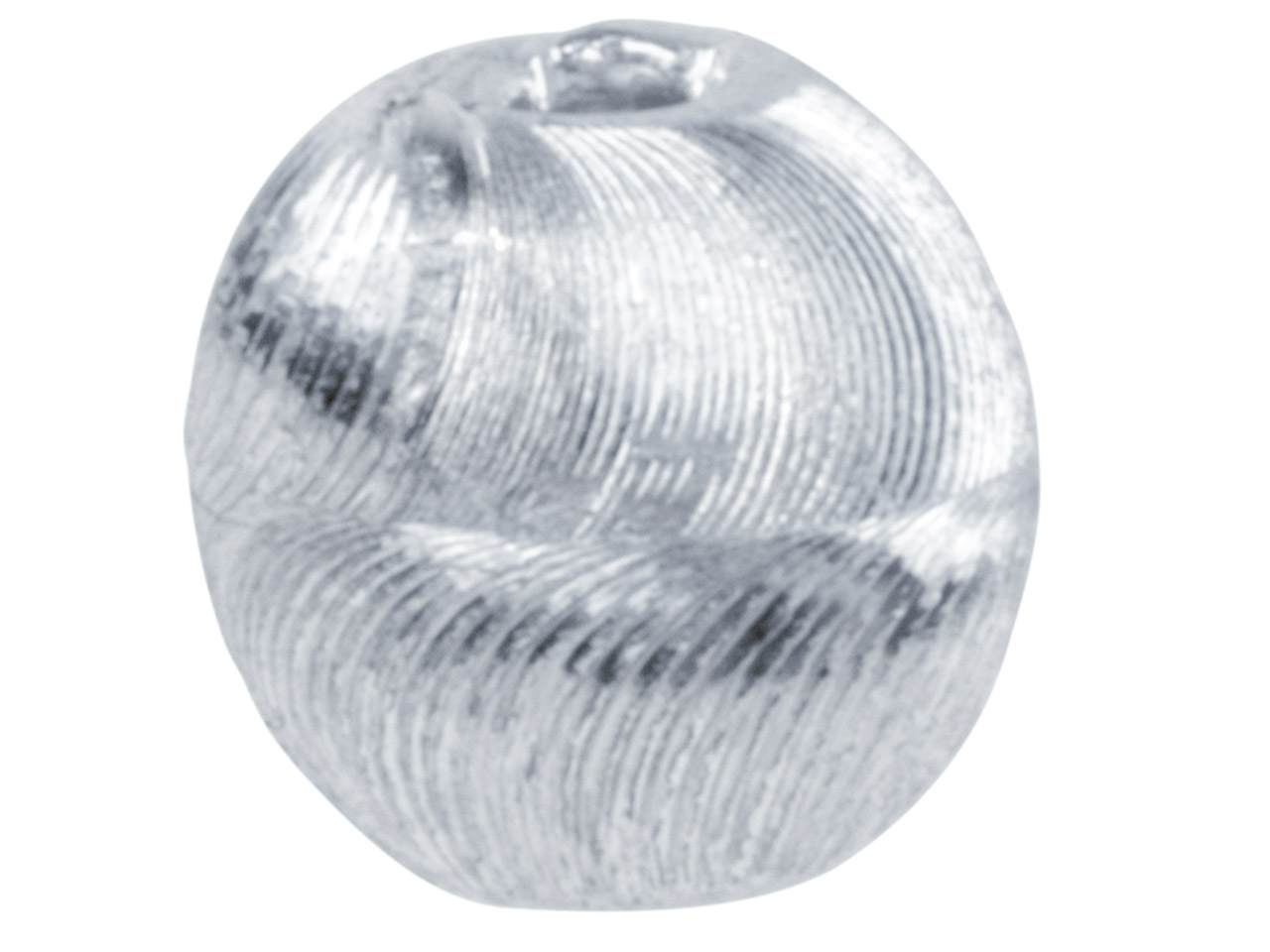 Silver Plated Diamond Cut Round 8mm Beads, Pack of 20