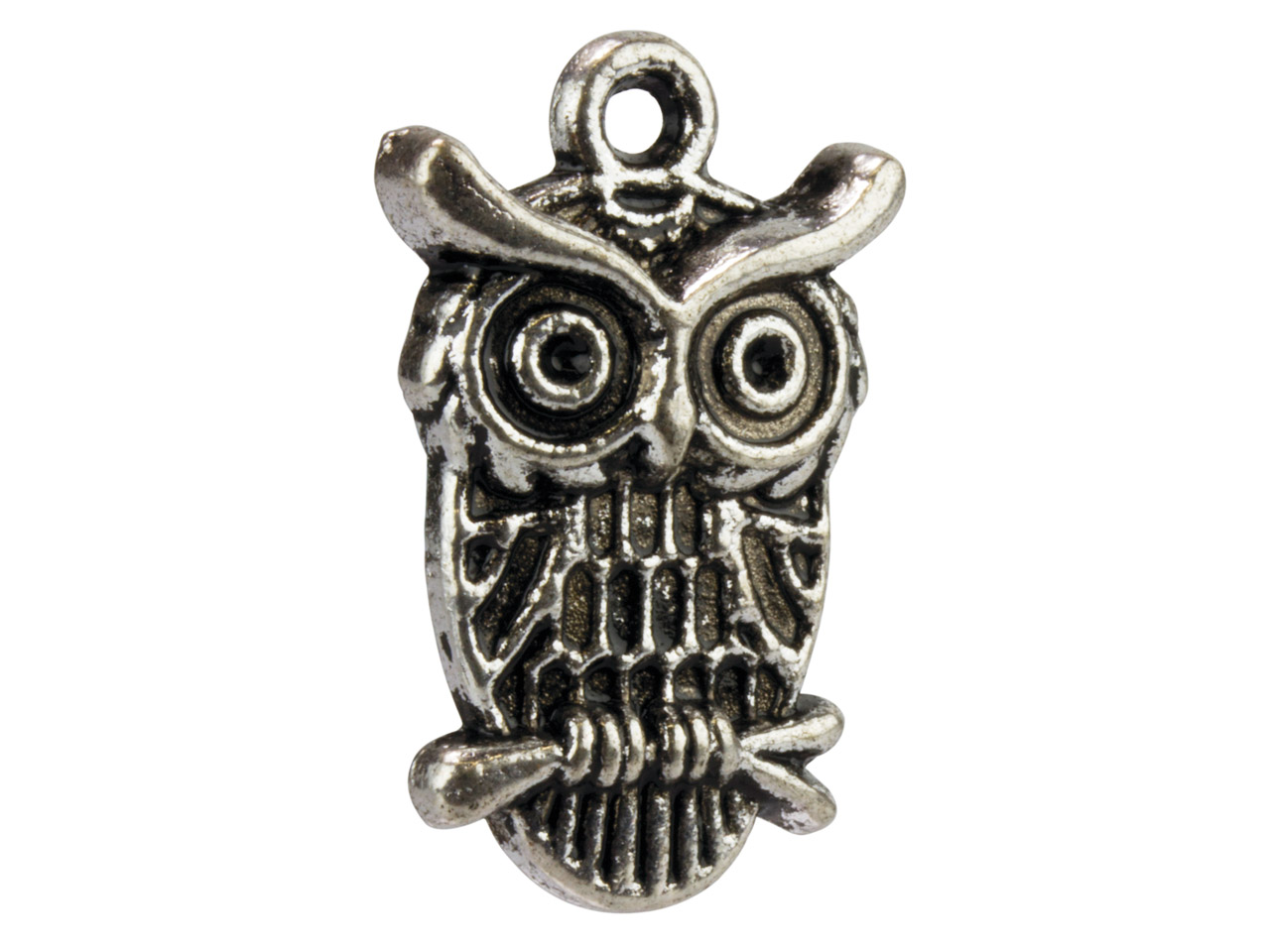 Silver Tone Owl, 29x18mm,          Pack of 10