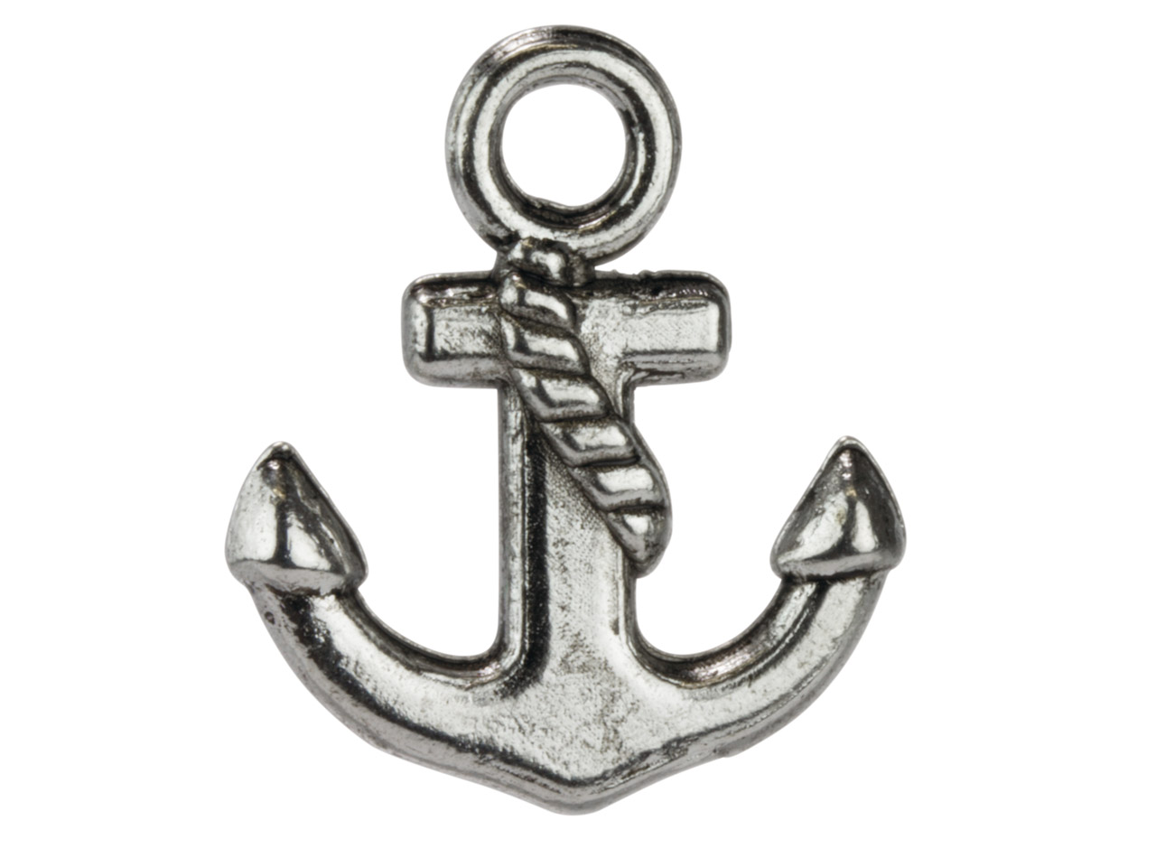 Silver Tone Anchor, 15x17mm,       Pack of 50