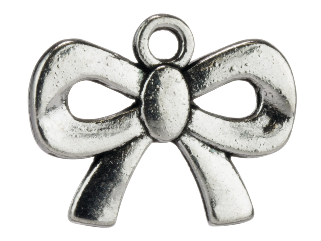 Silver Tone Bows, 18.5x12mm,       Pack of 50