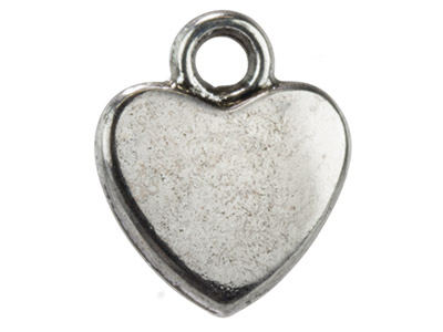 Silver-Tone-Plain-Hearts,-11x9mm,--Pa...