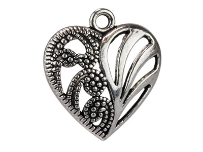 Silver-Tone-Filigree-Hearts,-------21...