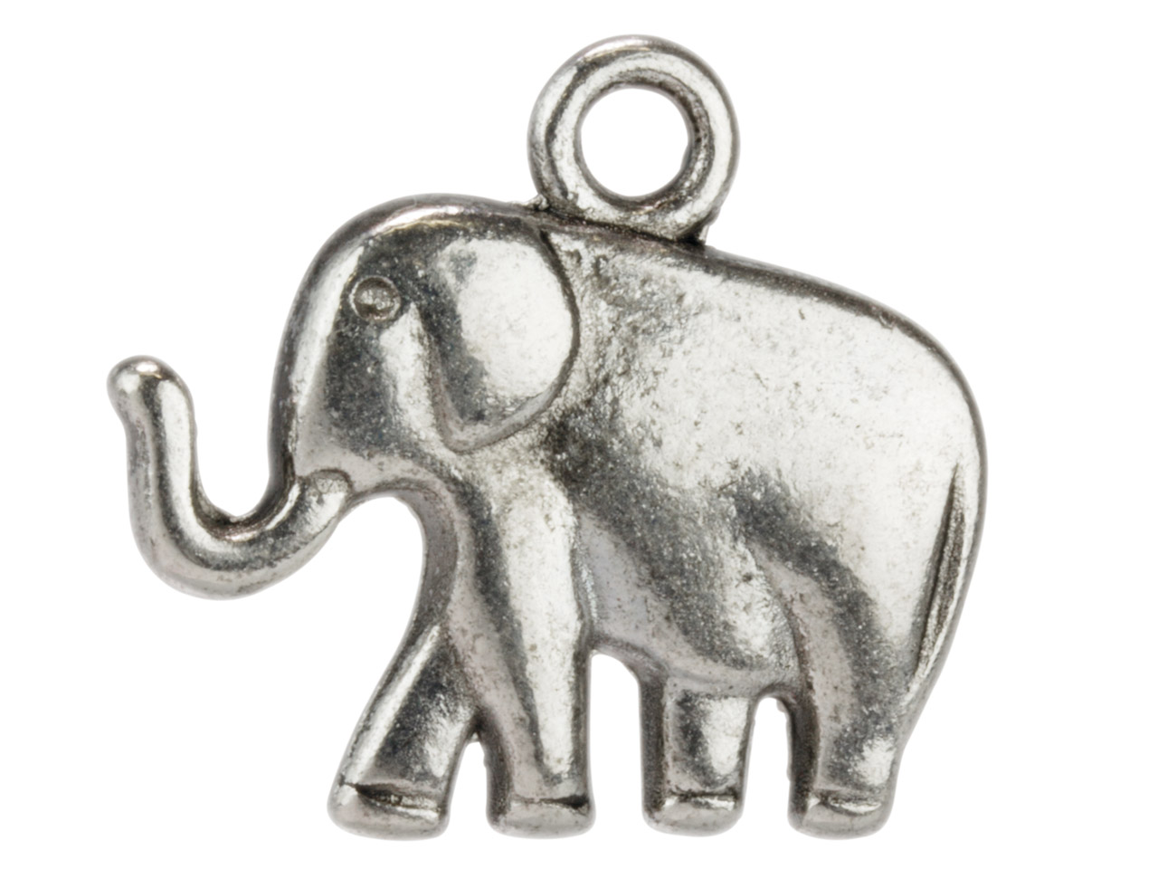 Silver Tone Elephant, 21x18mm,     Pack of 10