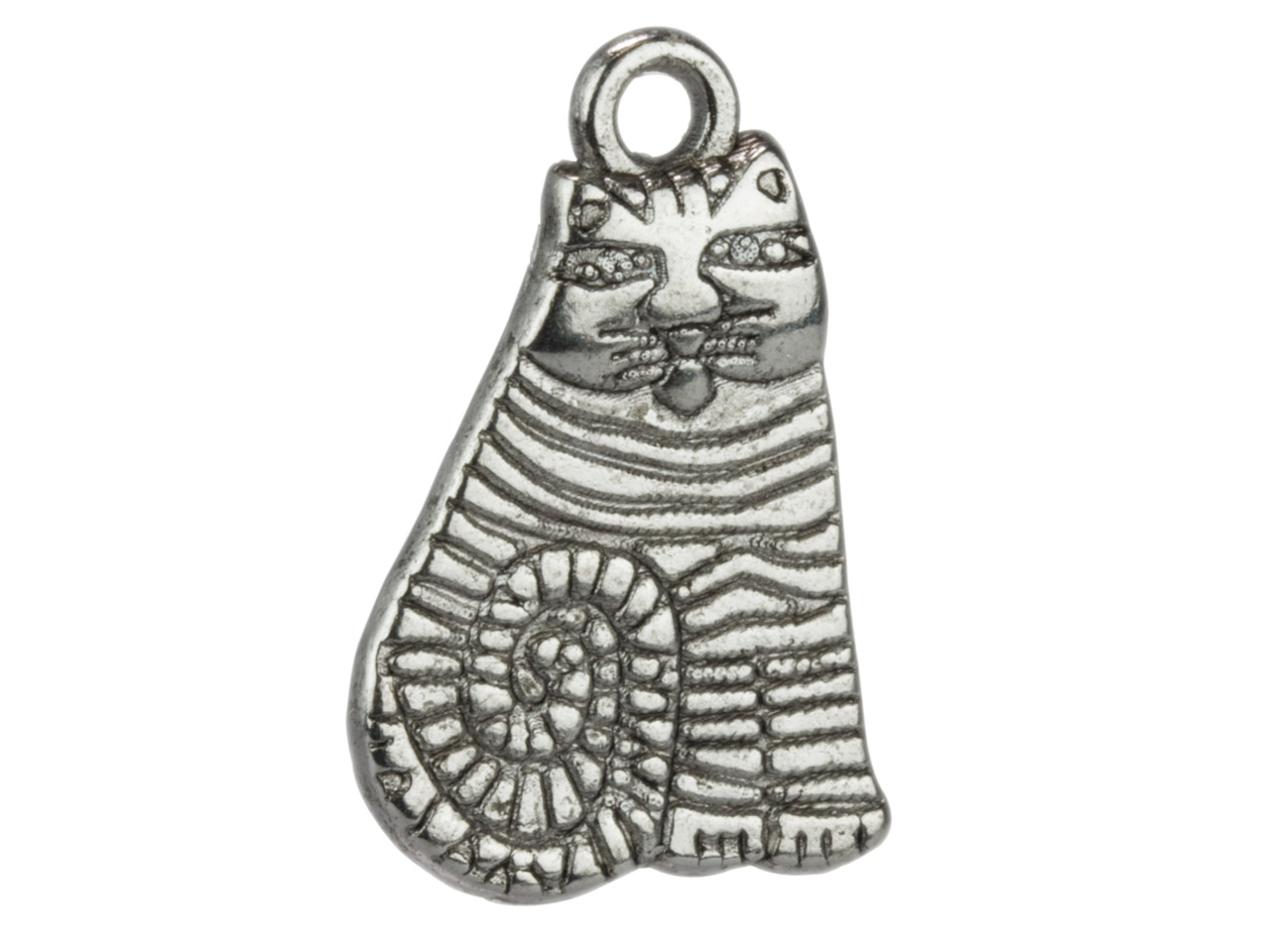 Silver Tone Cat, 13x20mm,          Pack of 20