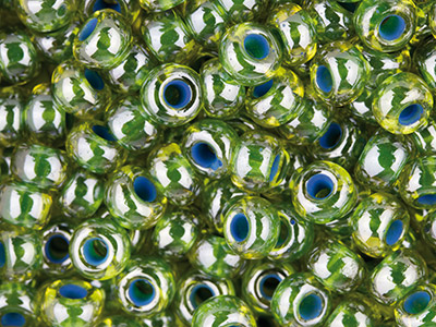 Czech-6-0-Seed-Beads,-Green-Lined--Lu...
