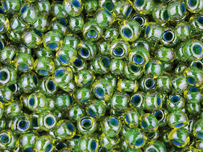 Czech-8-0-Seed-Beads,-Green-Lined--Lu...