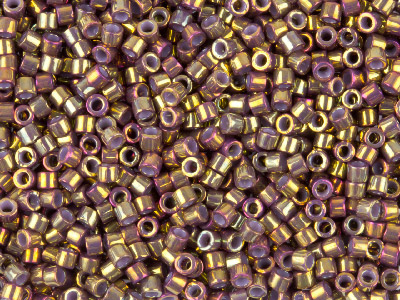 Miyuki 110 Delica Seed Beads Metallic Earth Batik Luster Transparent 7.2g Tube Db1010