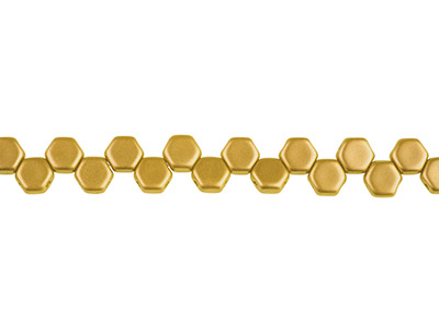 Honeycomb 6mm Czech Beads, Crystal Bronze Pale Gold, Strand Of 30     Beads