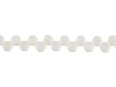 Honeycomb-6mm-Czech-Beads,-Chalk---Lu...