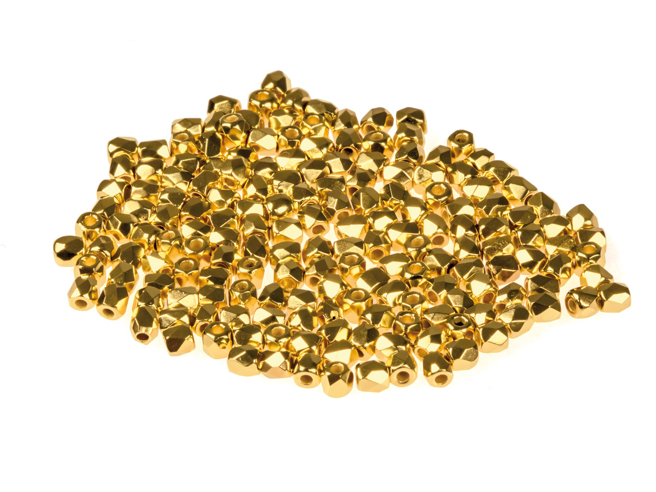True2 2mm Czech Fire Polished      Beads, Crystal 24k Gold Plate, 2g  Pack