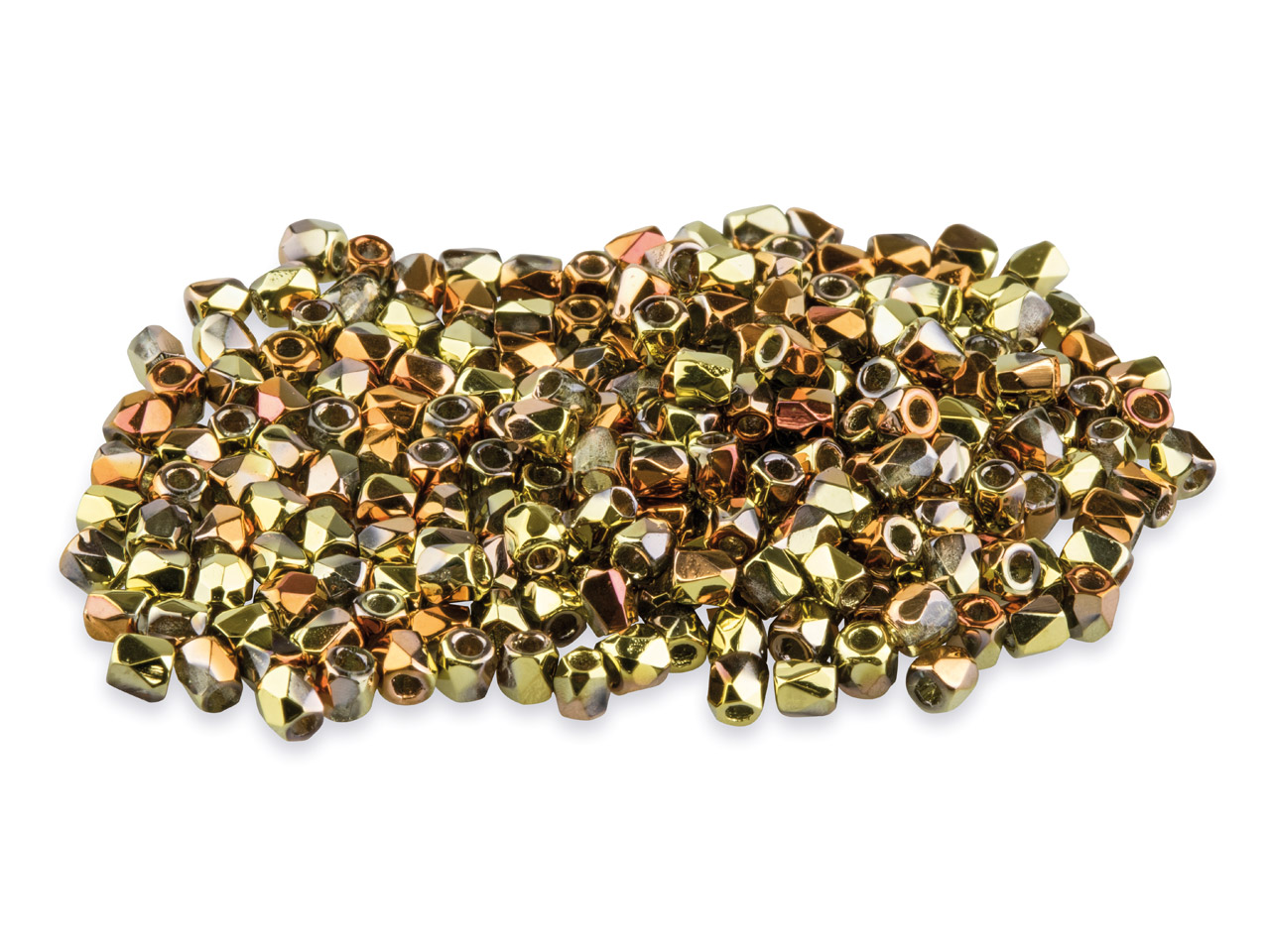 True2 2mm Czech Fire Polished      Beads, Crystal California Gold     Rush, 2g Pack