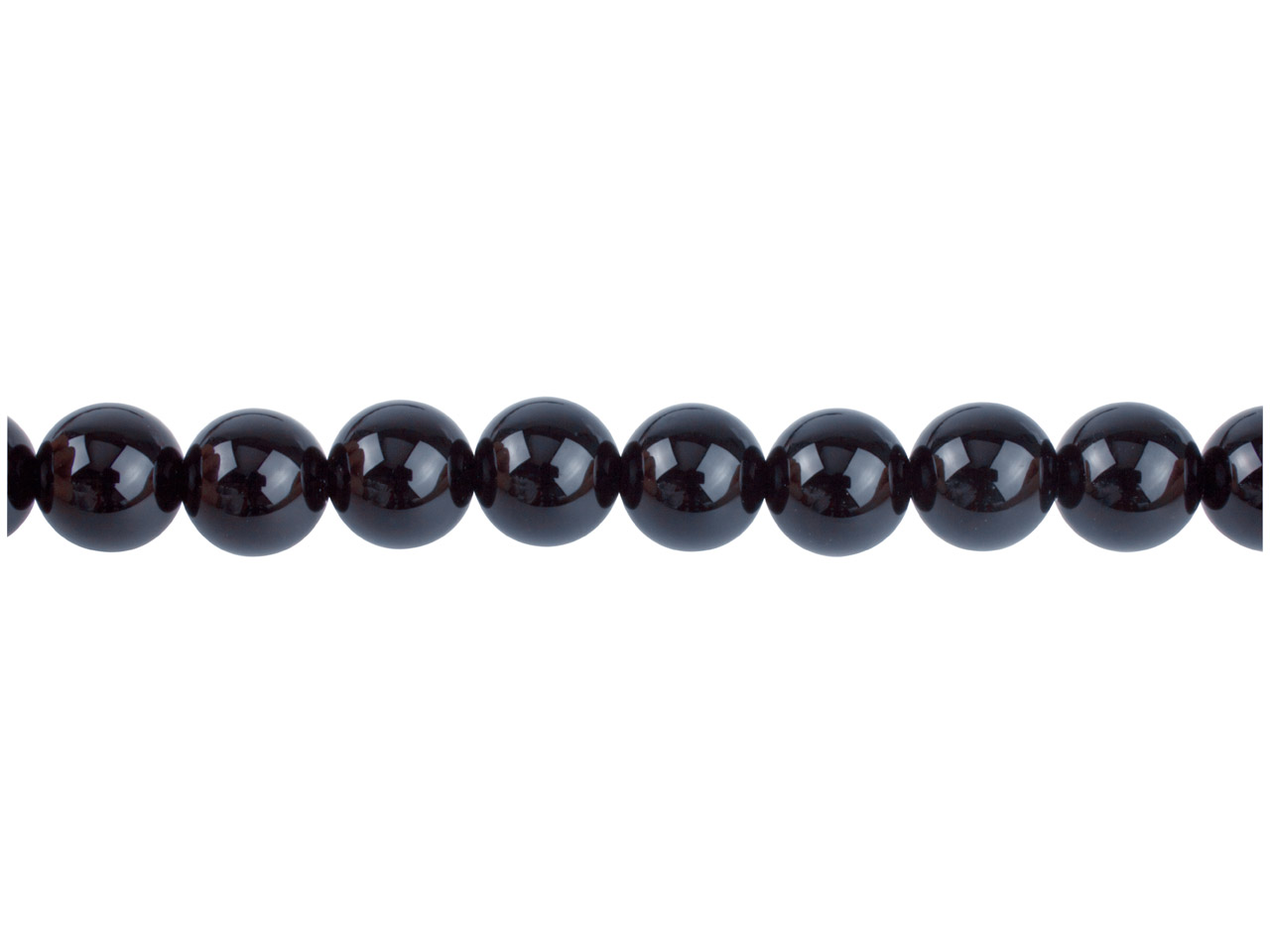 Black Agate Semi Precious Round    Beads 10mm 16