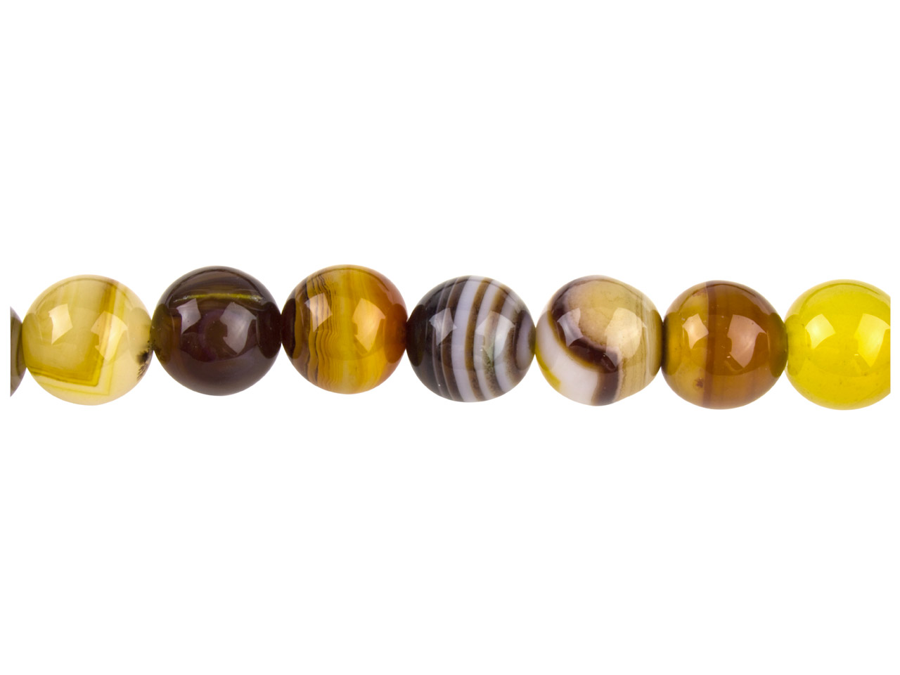 Coffee Lace Agate Semi Precious    Round Beads10mm,16