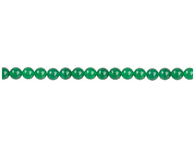 Green Agate Semi Pecious Round     Beads 4mm, 1640cm Strand