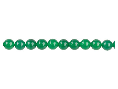 Green Agate Semi Pecious Round     Beads 6mm, 1640cm Strand