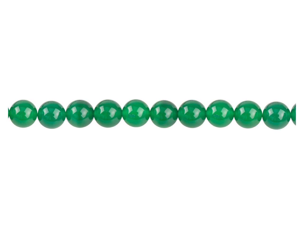 Green Agate Semi Pecious Round     Beads 6mm, 16