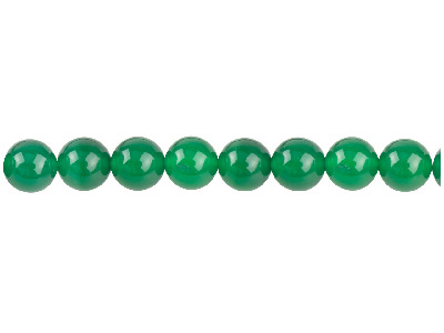Green Agate Semi Pecious Round     Beads 8mm, 1640cm Strand
