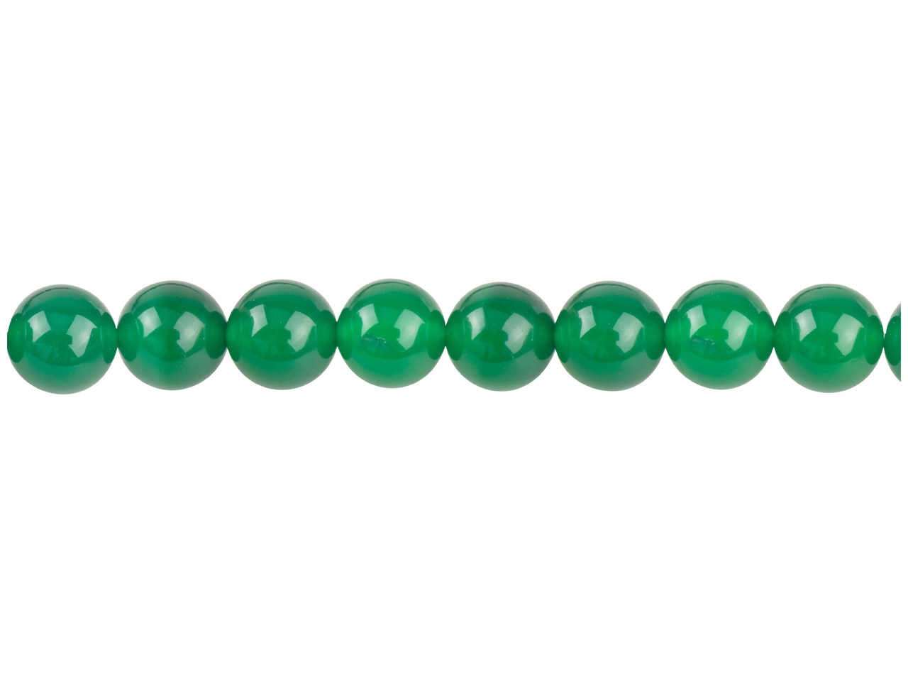Green Agate Semi Pecious Round     Beads 8mm, 16