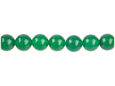 Green Agate Semi Pecious Round     Beads 10mm, 1640cm Strand