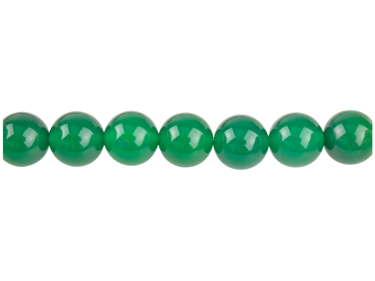 Green Agate Semi Pecious Round     Beads 10mm, 16