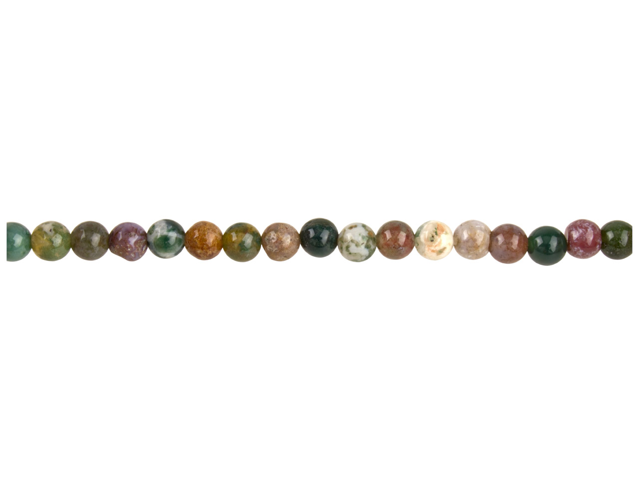 Indian Agate Semi Precious Round   Beads 4mm, 16
