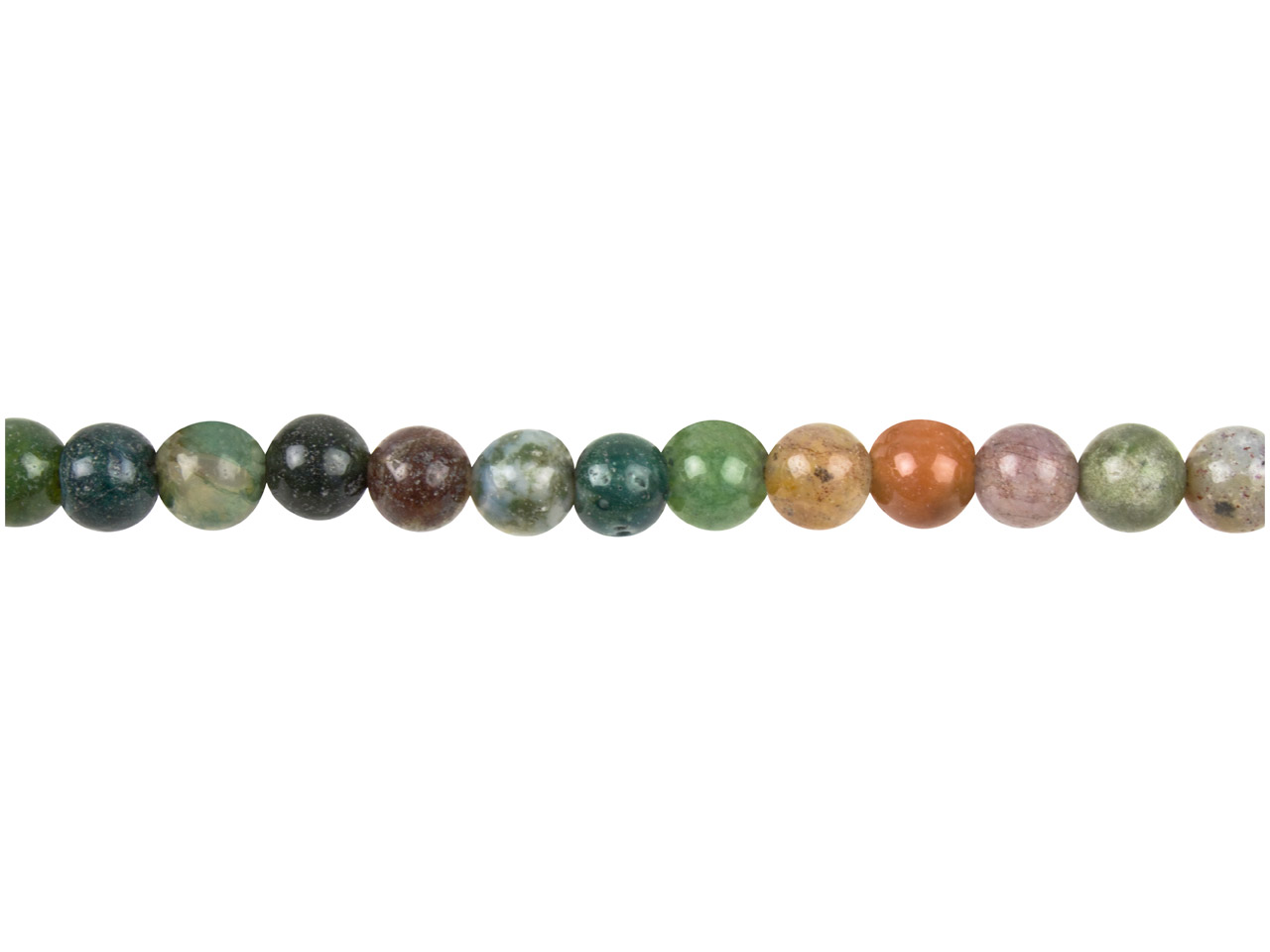 Indian Agate Semi Precious Round   Beads 6mm, 16