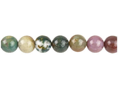 Indian Agate Semi Precious Round   Beads 10mm, 1640cm Strand