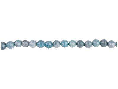 Aquamarine Coloured Quartz Semi Precious Faceted Round Beads 8mm 1640cm Strand