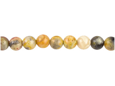 Crazy Lace Agate Semi Precious     Round Beads 8mm, 1640cm Strand