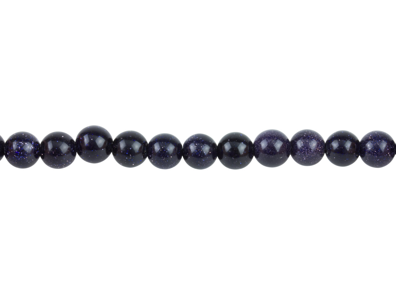 Blue Goldstone Beads, 8mm Round,   16
