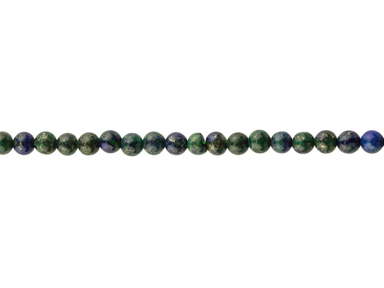 Chrysocolla Lapis Semi Precious    Round Beads, 4mm, 16