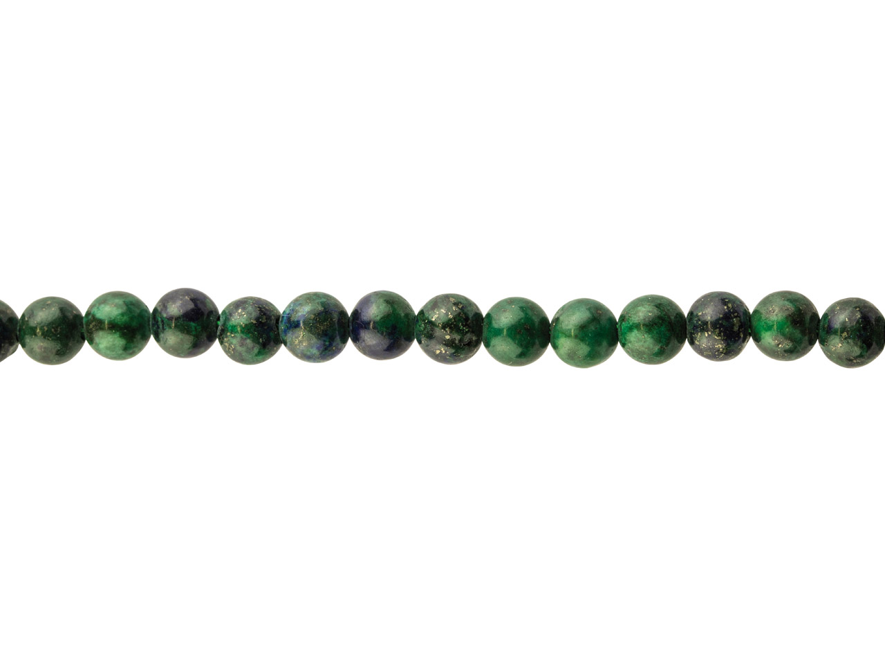 Chrysocolla Lapis Semi Precious    Round Beads, 6mm, 15