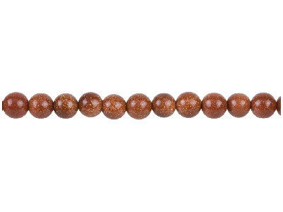Goldstone Beads, 8mm Round,        1640cm Strand